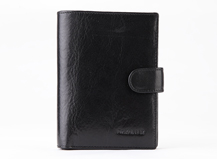 Dr.koffer vegetable leather wallet with clasp and emboss logo