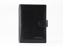 Dr.koffer Italy leather hot-selling bifold wallet for men with plastic passport and cash pocket
