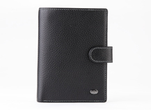 HASSION soft leather wallet for men with passport and coin case