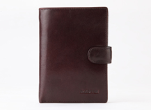 Dr.koffer  Quality Approvals Italy leather men's passport with money pocket